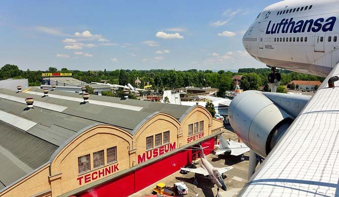Technik Museum Speyer - Boeing 747 wing view